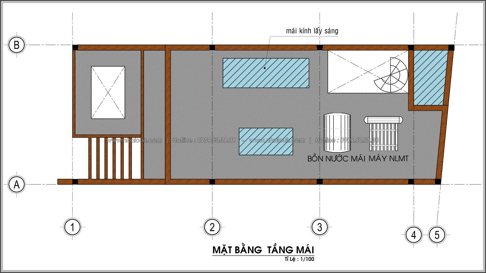 Thiết kế nhà ống 4 tầng lộng lẫ với mặt tiền 5m và gara ô tô tại Tân Bình - 08