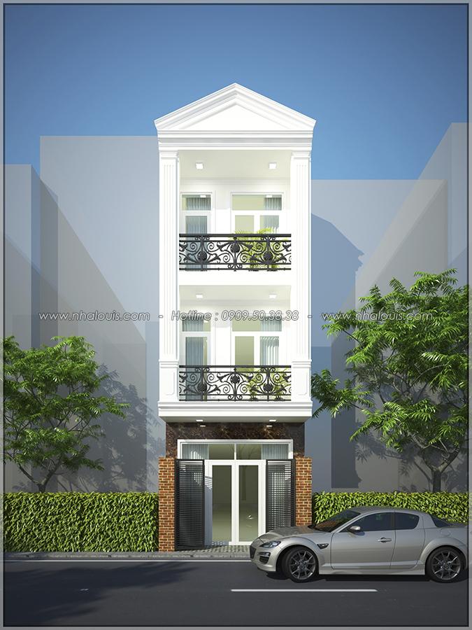 Thiết kế nhà phố 3 tầng tại Tân Bình cực chất với vẻ đẹp hiện đại - 01