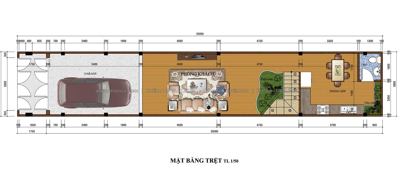 Thiết kế nhà phố 3 tầng tại Tân Bình cực chất với vẻ đẹp hiện đại - 02