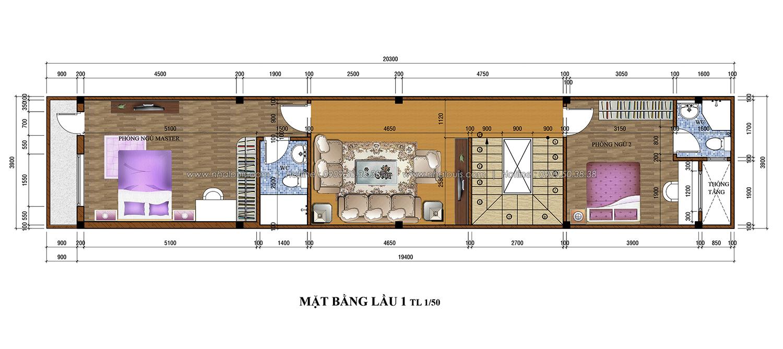 Thiết kế nhà phố 3 tầng tại Tân Bình cực chất với vẻ đẹp hiện đại - 03