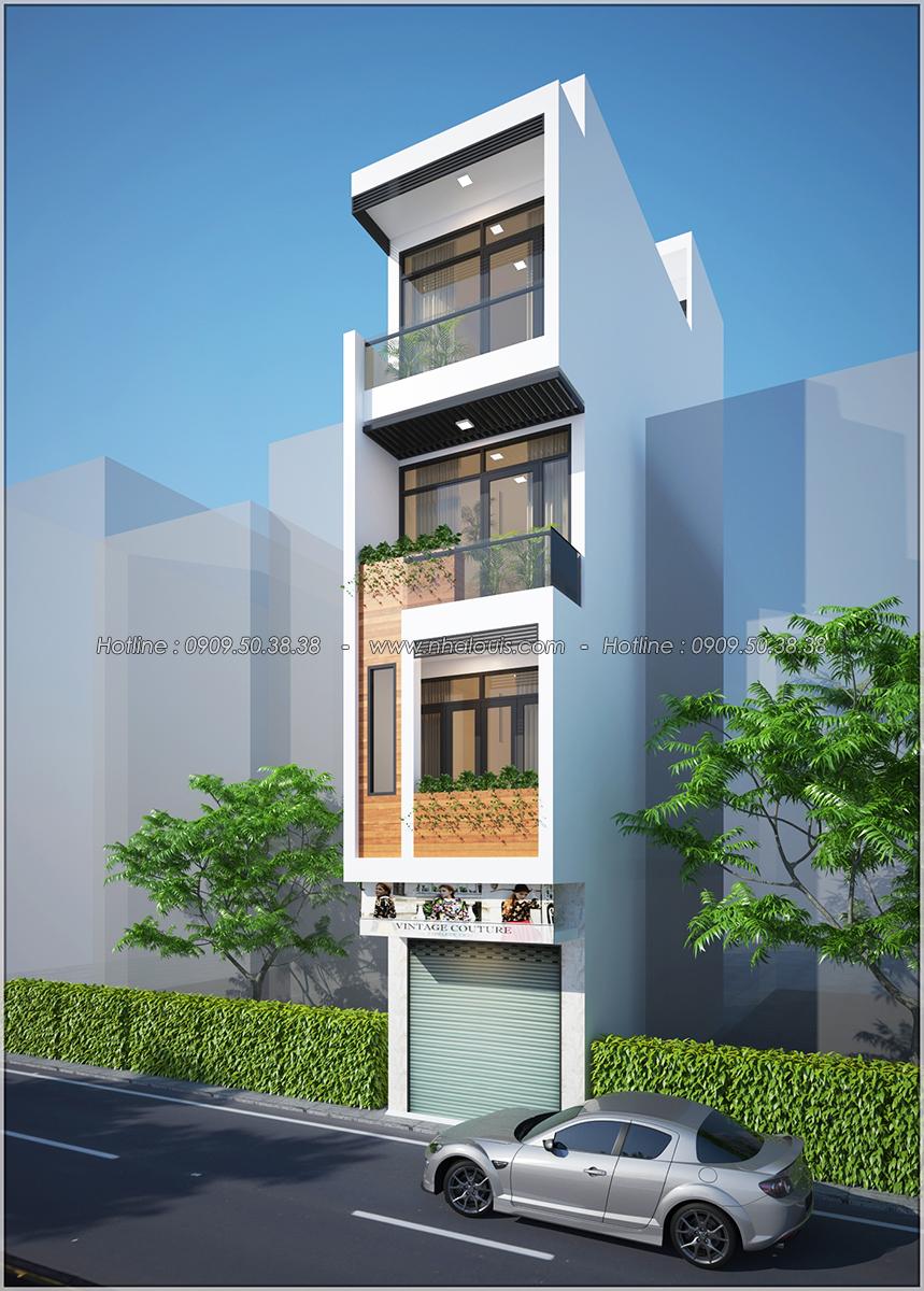 Thiết kế nhà phố 4 tầng mặt tiền 3.3m để kinh doanh tại Tân Bình - 02