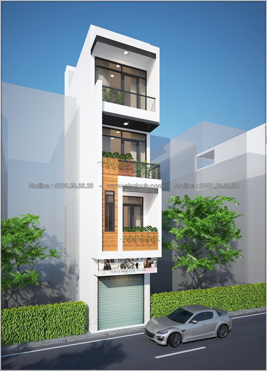 Thiết kế nhà phố 4 tầng mặt tiền 3.3m để kinh doanh tại Tân Bình - 03