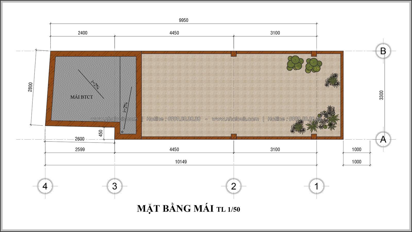 Thiết kế nhà phố 4 tầng mặt tiền 3.3m để kinh doanh tại Tân Bình - 09