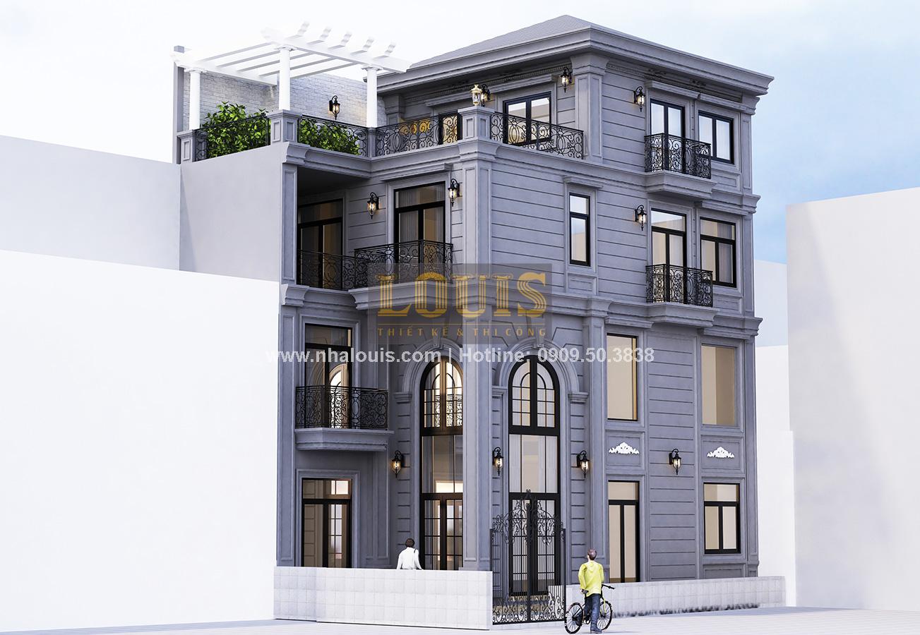Thiết kế nhà phố bán cổ điển tại Quận 4 độc lạ với gu màu khác biệt - 01