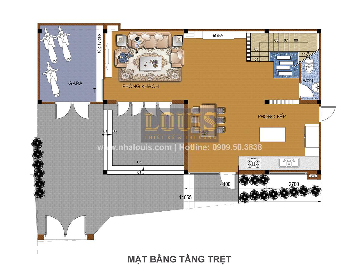 Thiết kế nhà phố bán cổ điển tại Quận 4 độc lạ với gu màu khác biệt - 02