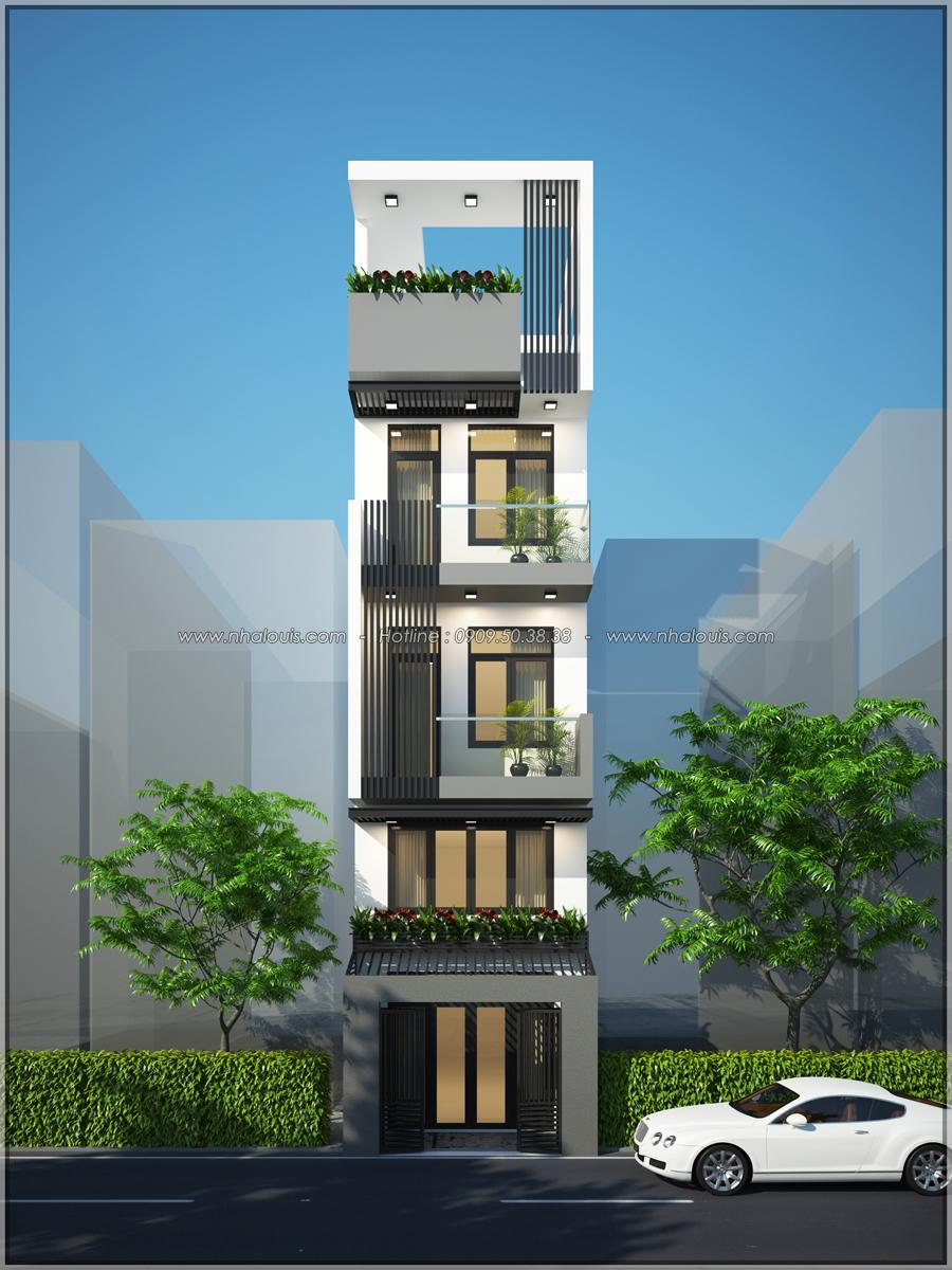 Thiết kế nhà phố đẹp 3 tầng tại Quận 10 với nội thất chuẩn sang trọng - 01