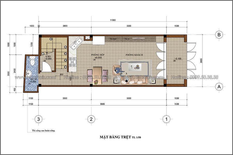 Thiết kế nhà phố đẹp 3 tầng tại Quận 10 với nội thất chuẩn sang trọng - 02