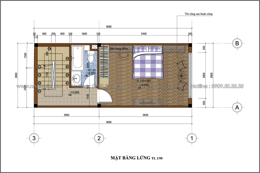 Thiết kế nhà phố đẹp 3 tầng tại Quận 10 với nội thất chuẩn sang trọng - 09