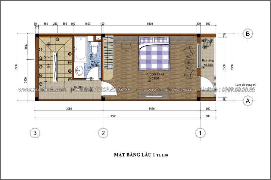 Thiết kế nhà phố đẹp 3 tầng tại Quận 10 với nội thất chuẩn sang trọng - 14