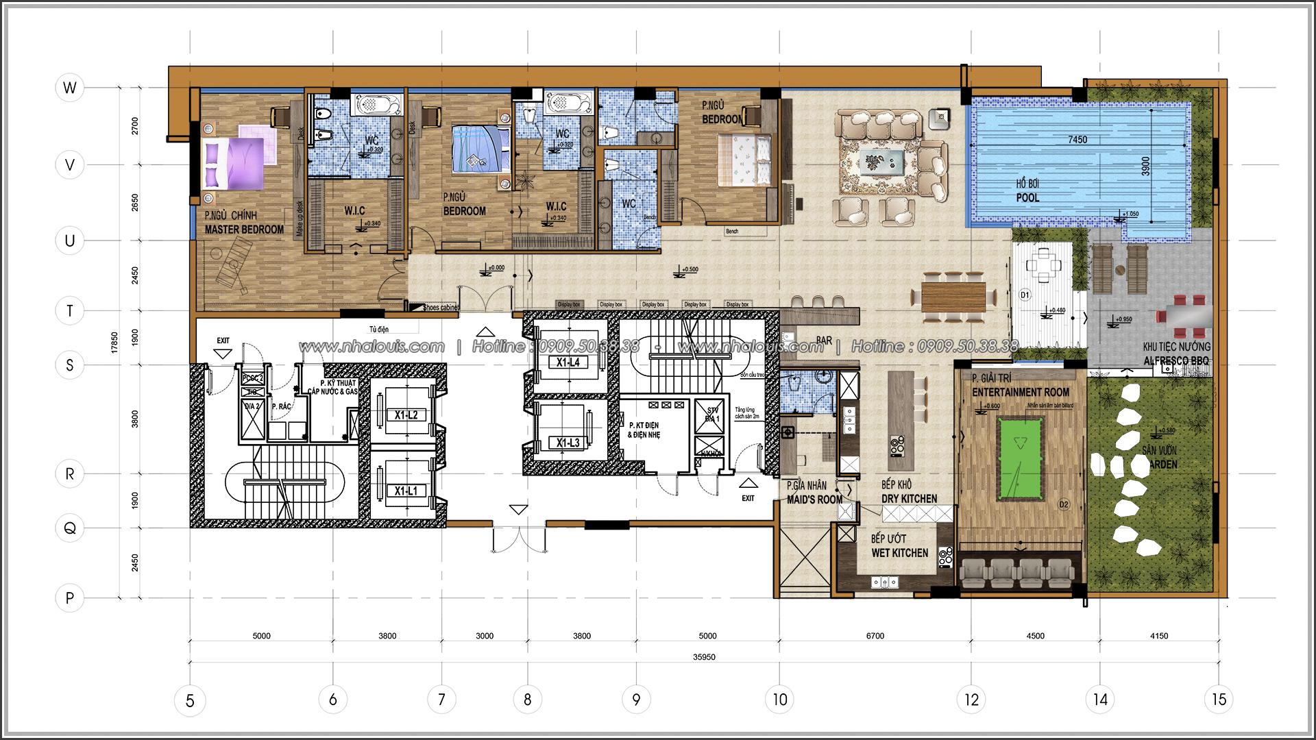 Thiết kế nội thất chung cư hiện đại tại dự án Sunrise City Quận 7 - 02
