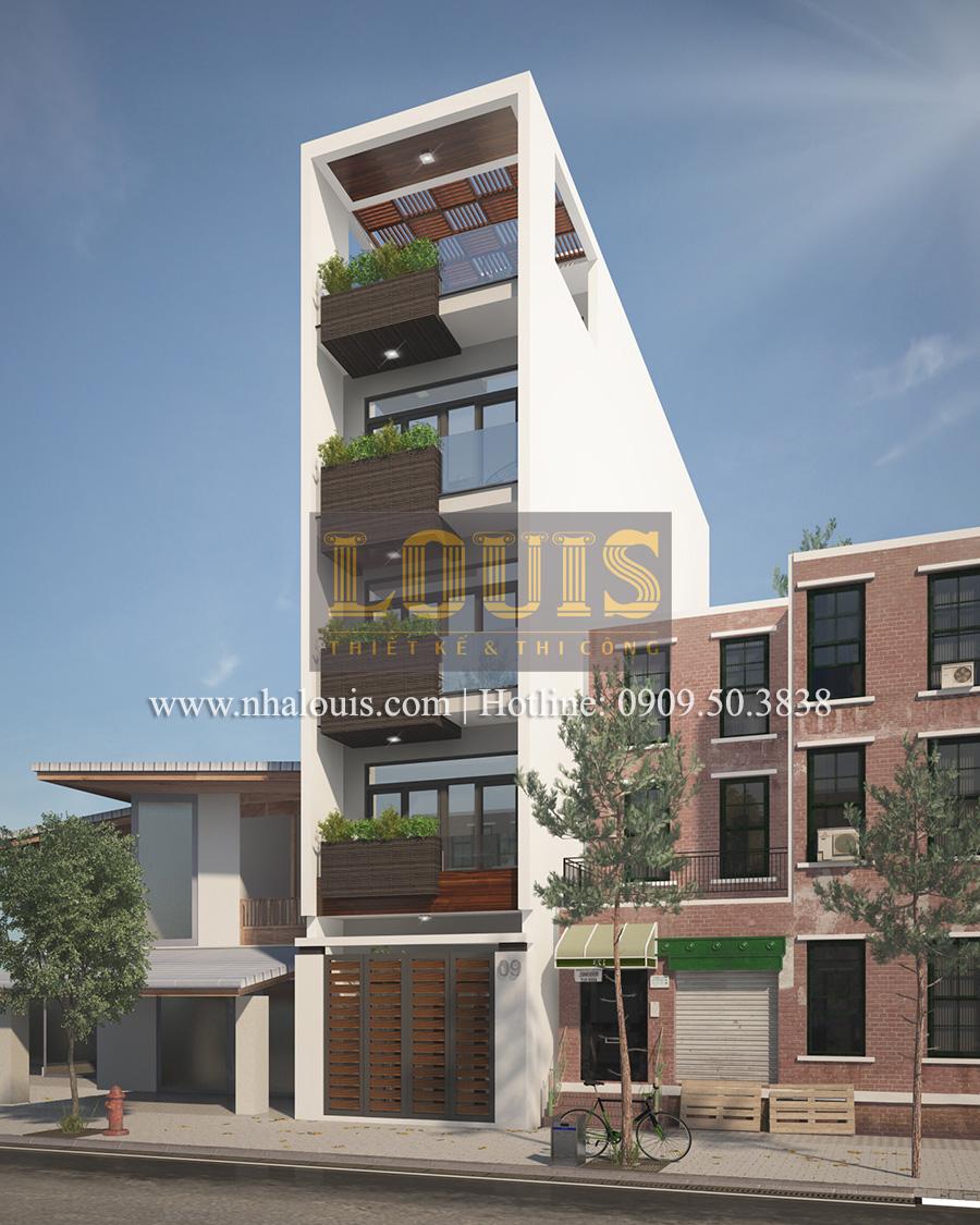 Mẫu nhà phố 5 tầng ở Tân Phú với phong cách hiện đại tinh tế - 01
