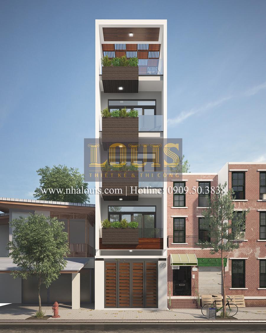 Mẫu nhà phố 5 tầng ở Tân Phú với phong cách hiện đại tinh tế - 02