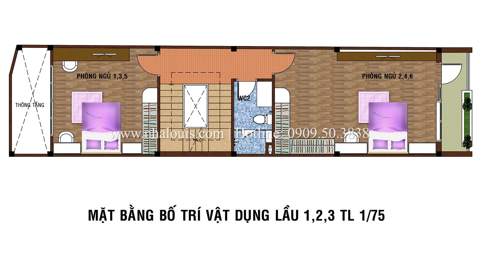 Mẫu nhà phố 5 tầng ở Tân Phú với phong cách hiện đại tinh tế - 04
