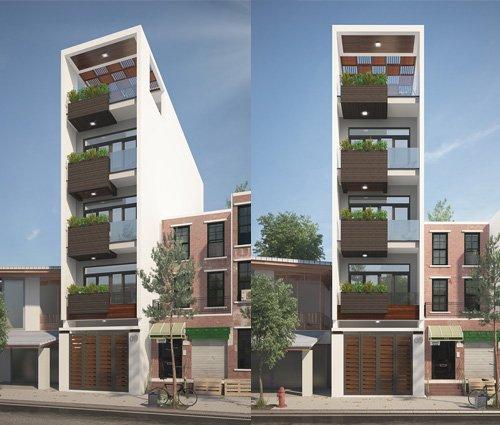 Mẫu nhà phố 5 tầng ở Tân Phú với phong cách hiện đại tinh tế