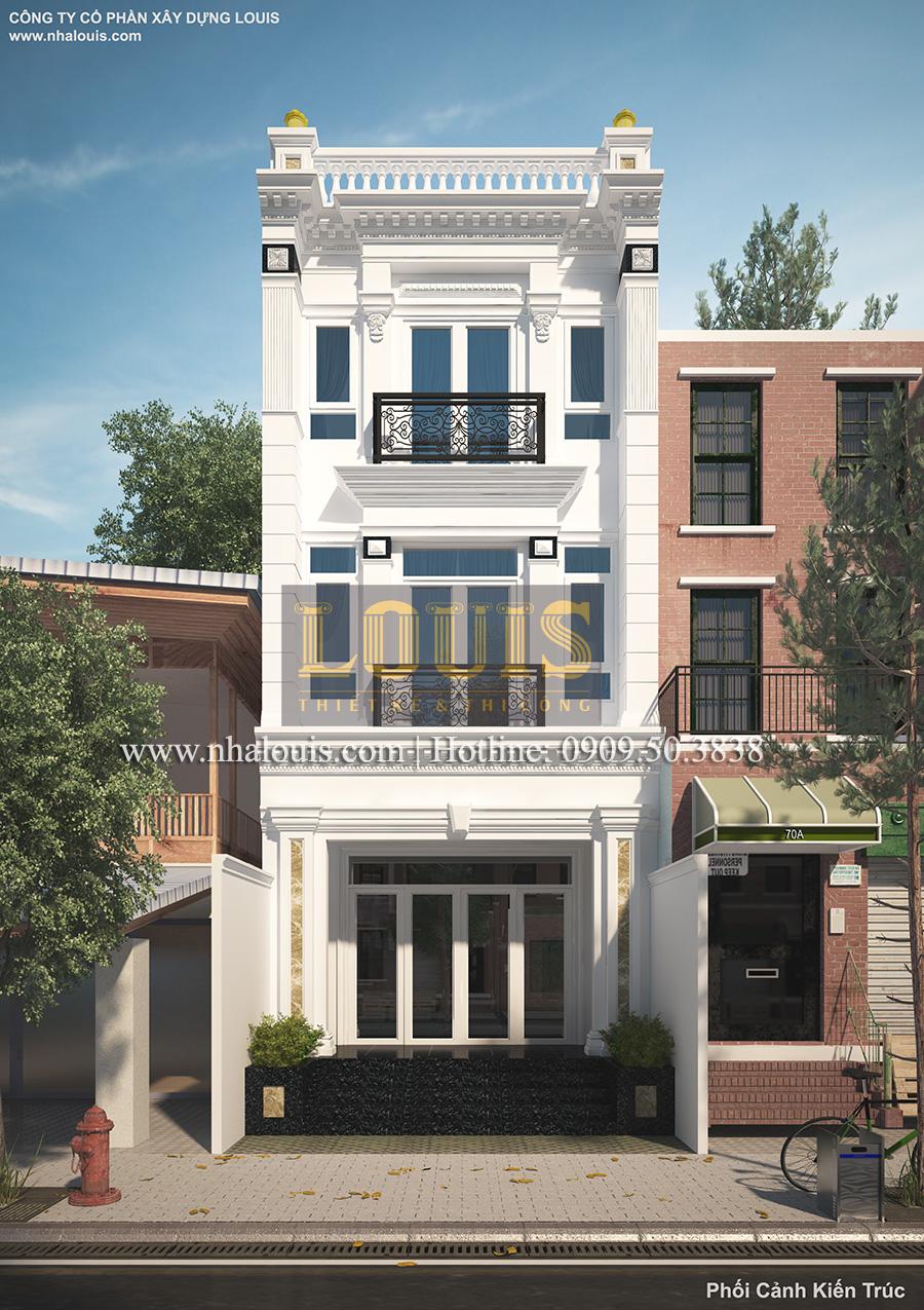 Thiết kế kiến trúc tân cổ điển cho nhà phố Quận 7 đẹp ấn tượng - 01