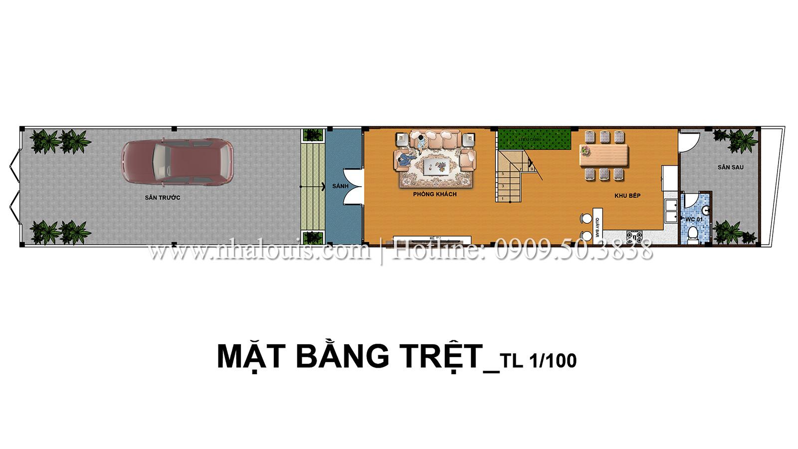 Thiết kế kiến trúc tân cổ điển cho nhà phố Quận 7 đẹp ấn tượng - 02