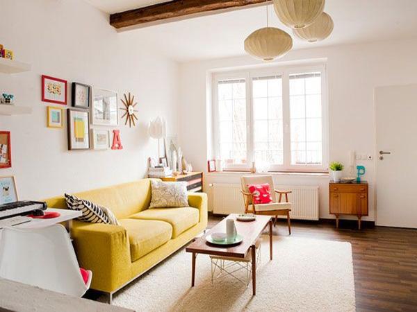 Những ý tưởng thiết kế phòng khách đơn giản và tiết kiệm