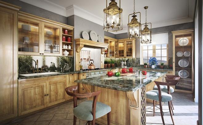 10 ý tưởng thiết kế phòng bếp truyền thống ấm cúng
