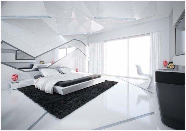9 mẫu phòng ngủ phong cách Futuristic hiện đại và độc đáo - 07