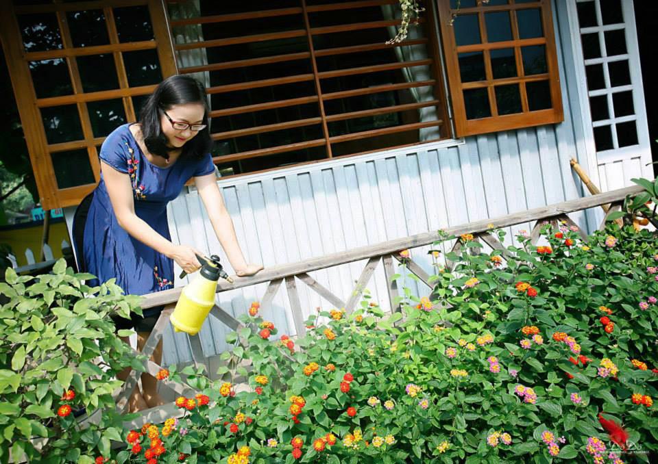 Ngôi nhà gỗ xinh xắn với vườn hoa hồng rực rỡ sắc màu - 13