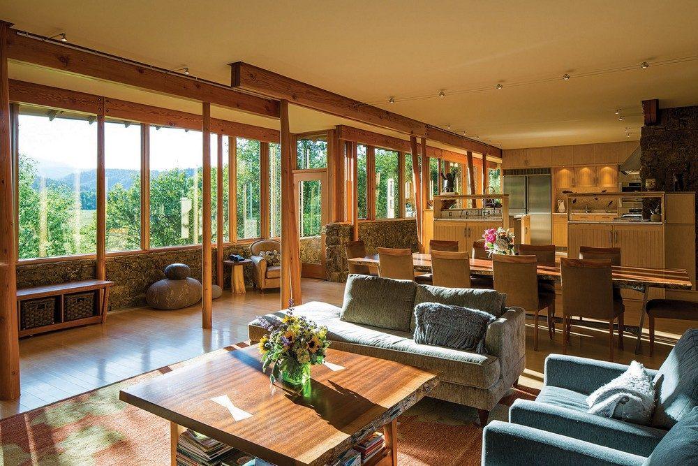 Thiết kế nhà gỗ hiện đại hòa mình cùng thiên nhiên tại Montana - 02