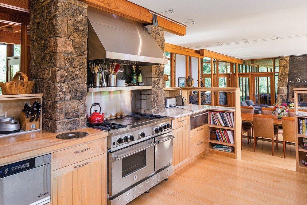 Thiết kế nhà gỗ hiện đại hòa mình cùng thiên nhiên tại Montana - 06