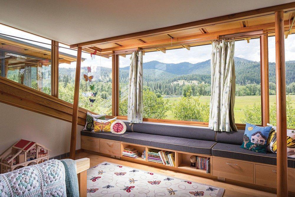 Thiết kế nhà gỗ hiện đại hòa mình cùng thiên nhiên tại Montana - 09