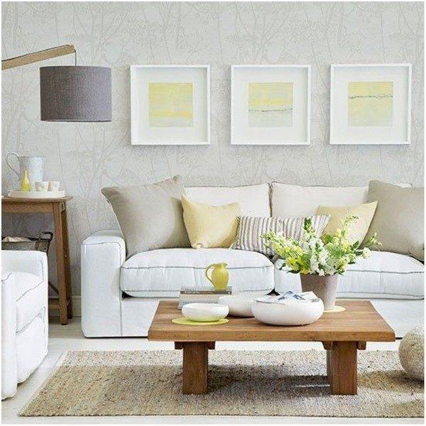 Cặp đôi vàng - xám tạo nét sang trọng cho phòng khách hiện đại