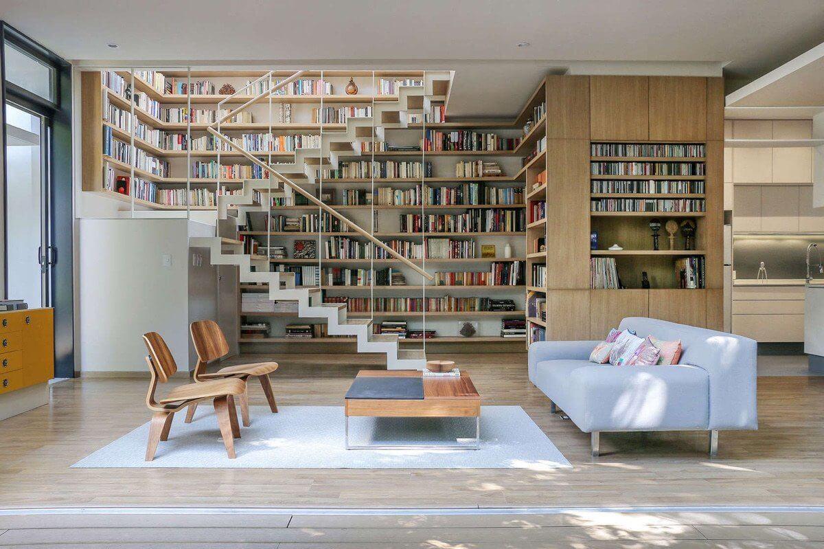 """Mẫu phòng khách trong mơ cho mọi """"mọt sách"""""""