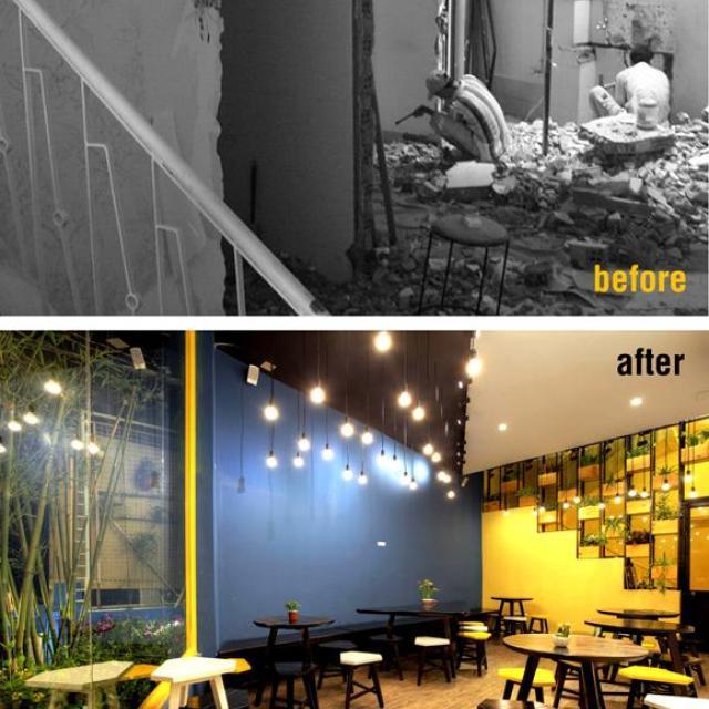 Nhà cũ cải tạo thành mặt bằng kinh doanh đẹp đáng học hỏi