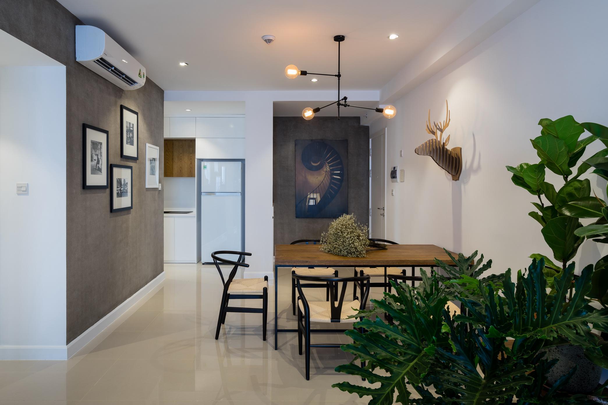 Nội thất căn hộ tông tầm cho chủ nhà thích sự tĩnh lặng