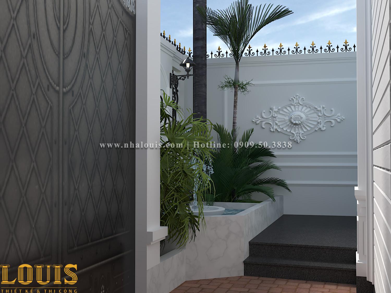 Sân vườn Mẫu nhà ống tân cổ điển 4 tầng tại Gò Vấp đẹp sang chảnh - 04