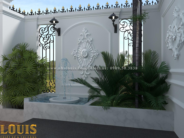 Sân vườn Mẫu nhà ống tân cổ điển 4 tầng tại Gò Vấp đẹp sang chảnh - 05