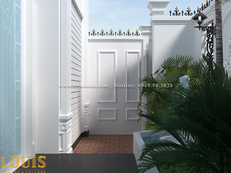 Sân vườn Mẫu nhà ống tân cổ điển 4 tầng tại Gò Vấp đẹp sang chảnh - 06