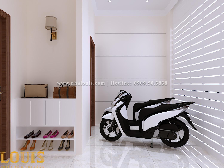 Chỗ để xe máy Mẫu nhà ống tân cổ điển 4 tầng tại Gò Vấp đẹp sang chảnh - 09