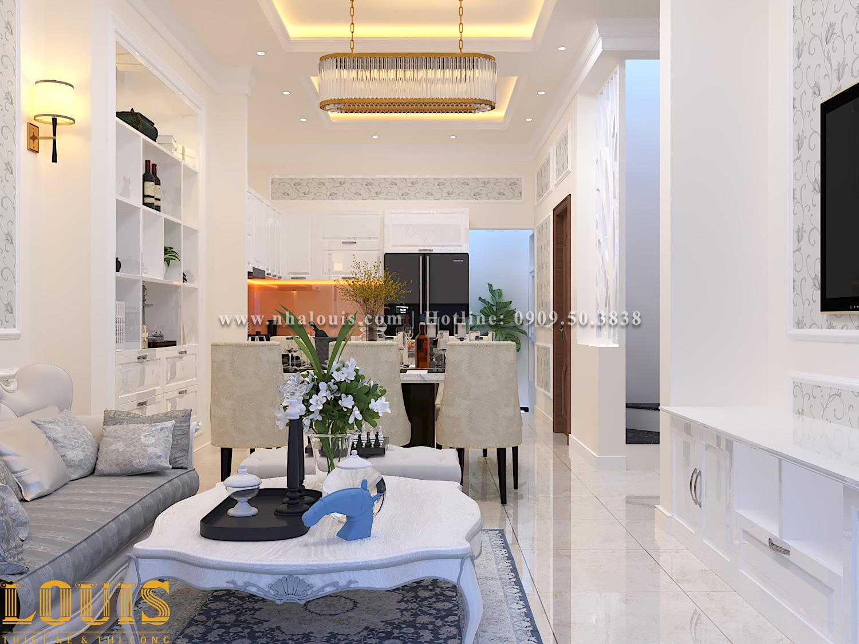 Phòng khách Mẫu nhà ống tân cổ điển 4 tầng tại Gò Vấp đẹp sang chảnh - 10