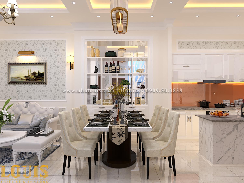 Bếp và phòng ăn Mẫu nhà ống tân cổ điển 4 tầng tại Gò Vấp đẹp sang chảnh - 13