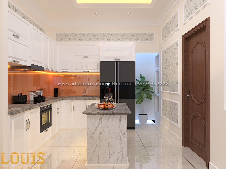 Bếp và phòng ăn Mẫu nhà ống tân cổ điển 4 tầng tại Gò Vấp đẹp sang chảnh - 15