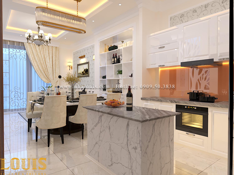Bếp và phòng ăn Mẫu nhà ống tân cổ điển 4 tầng tại Gò Vấp đẹp sang chảnh - 16