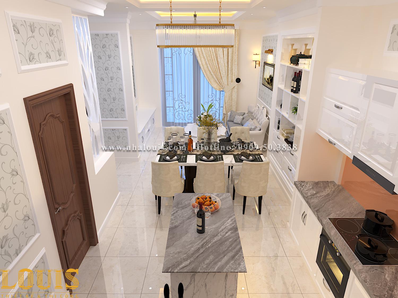 Bếp và phòng ăn Mẫu nhà ống tân cổ điển 4 tầng tại Gò Vấp đẹp sang chảnh - 17