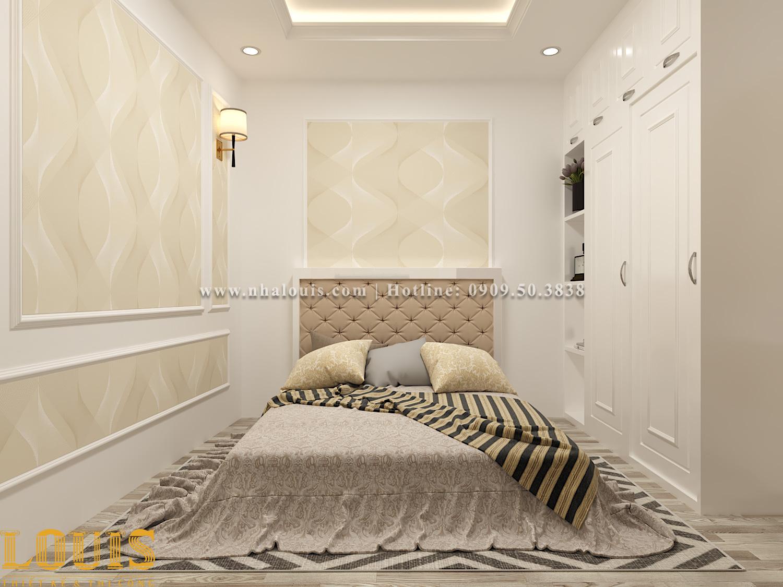Phòng ngủ Mẫu nhà ống tân cổ điển 4 tầng tại Gò Vấp đẹp sang chảnh - 19