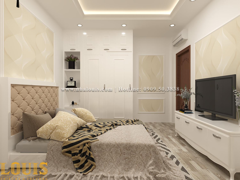 Phòng ngủ Mẫu nhà ống tân cổ điển 4 tầng tại Gò Vấp đẹp sang chảnh - 21
