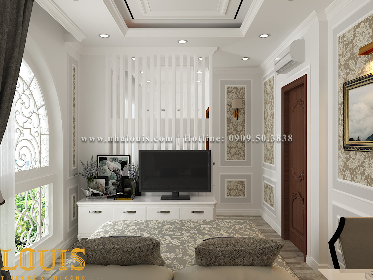 Phòng ngủ Mẫu nhà ống tân cổ điển 4 tầng tại Gò Vấp đẹp sang chảnh - 23