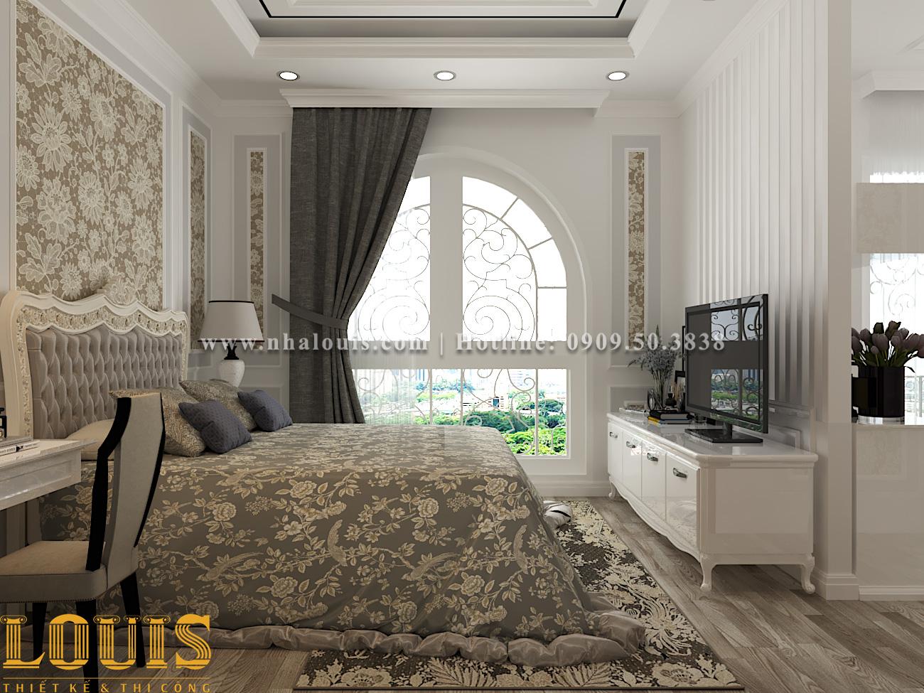 Phòng ngủ Mẫu nhà ống tân cổ điển 4 tầng tại Gò Vấp đẹp sang chảnh - 25