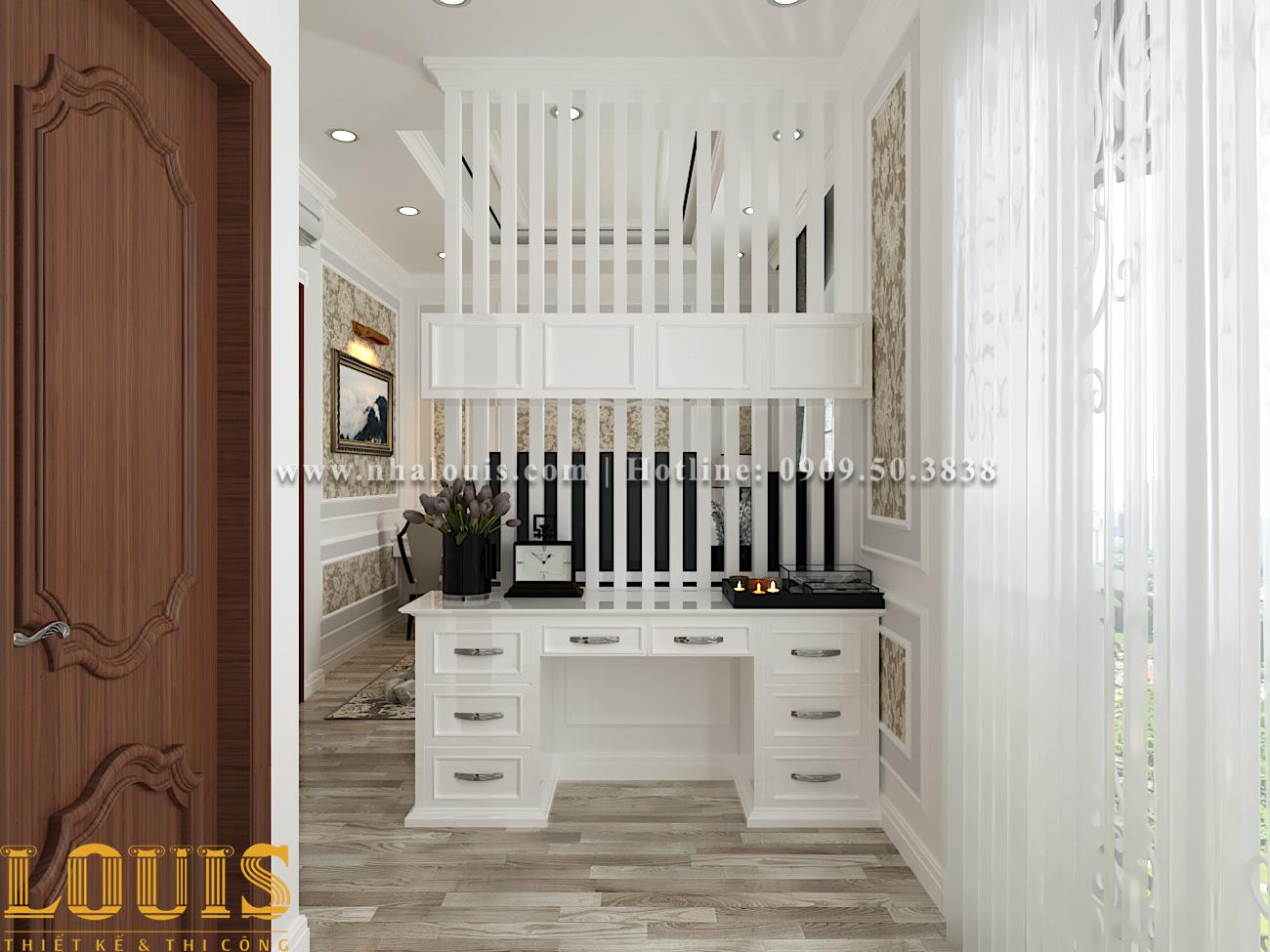 Phòng ngủ Mẫu nhà ống tân cổ điển 4 tầng tại Gò Vấp đẹp sang chảnh - 27