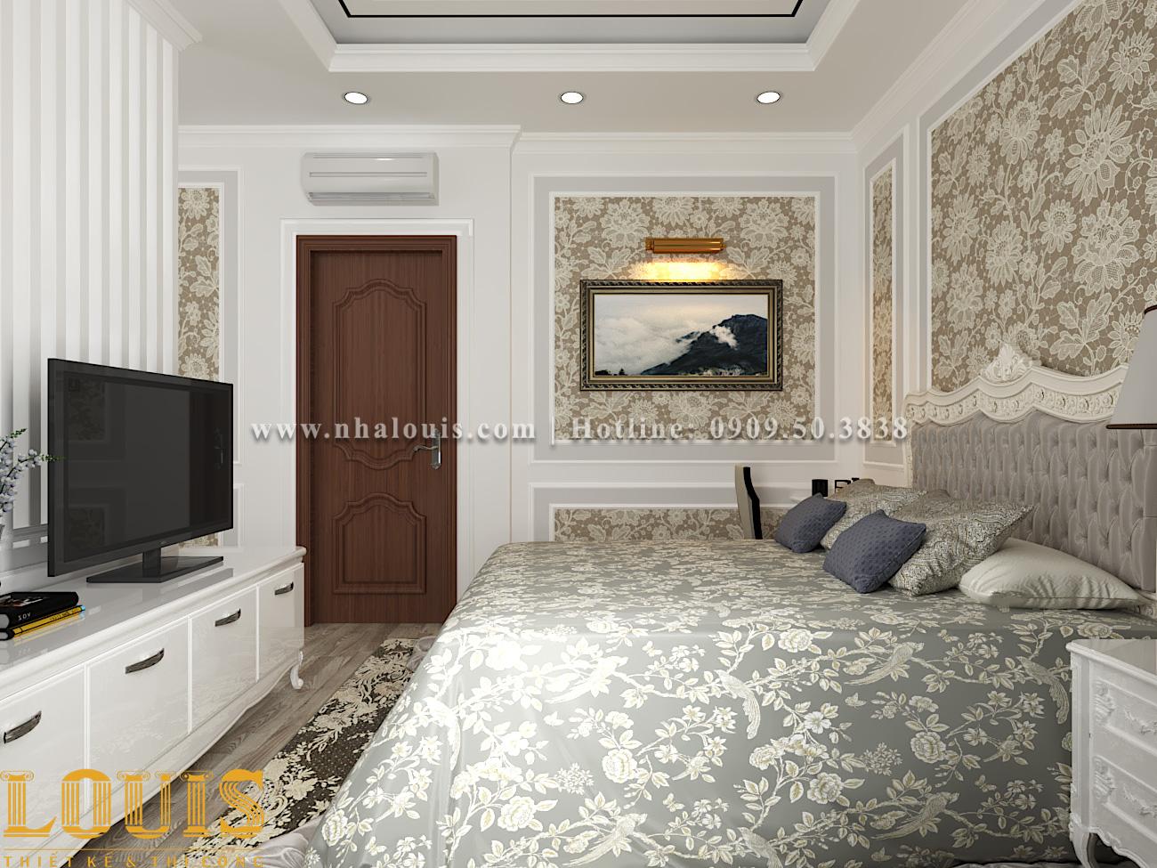 Phòng ngủ Mẫu nhà ống tân cổ điển 4 tầng tại Gò Vấp đẹp sang chảnh - 29