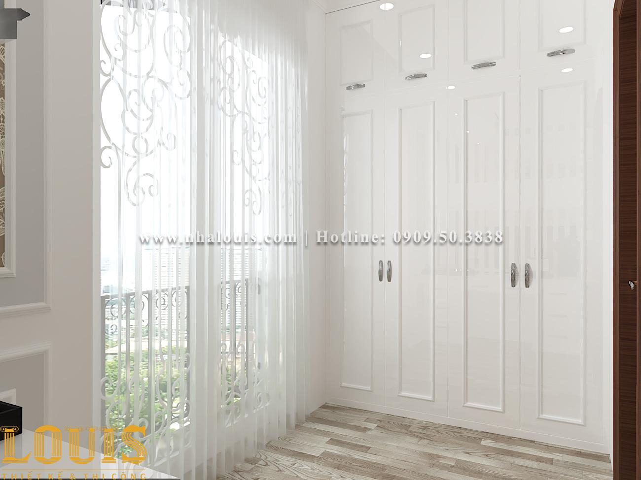 Phòng ngủ Mẫu nhà ống tân cổ điển 4 tầng tại Gò Vấp đẹp sang chảnh - 30