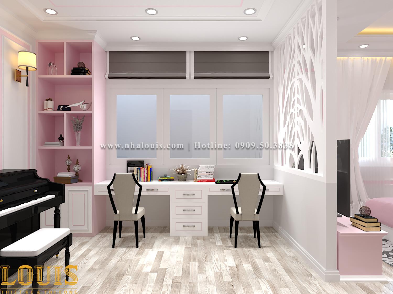 Phòng ngủ Mẫu nhà ống tân cổ điển 4 tầng tại Gò Vấp đẹp sang chảnh - 35