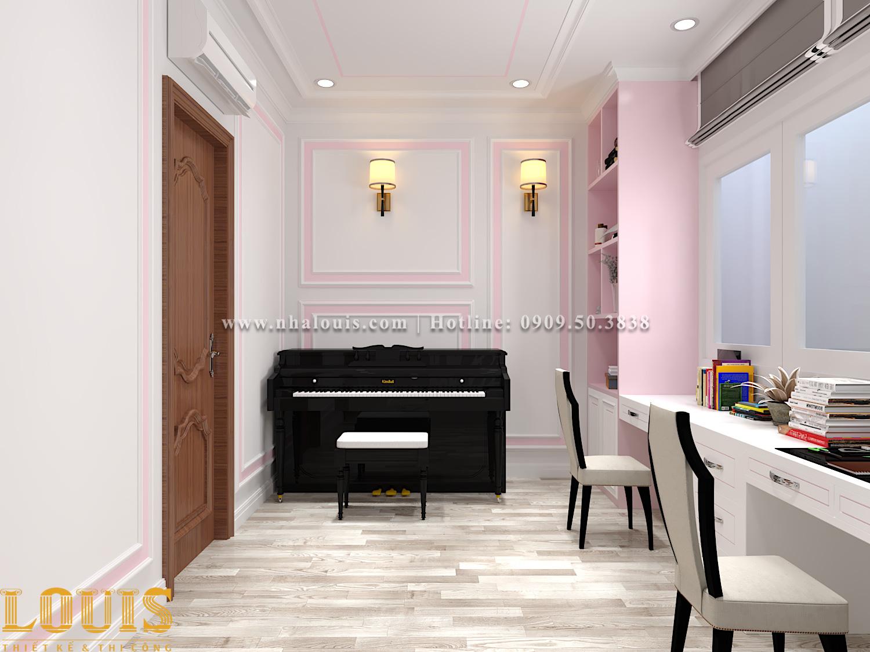 Phòng ngủ Mẫu nhà ống tân cổ điển 4 tầng tại Gò Vấp đẹp sang chảnh - 36