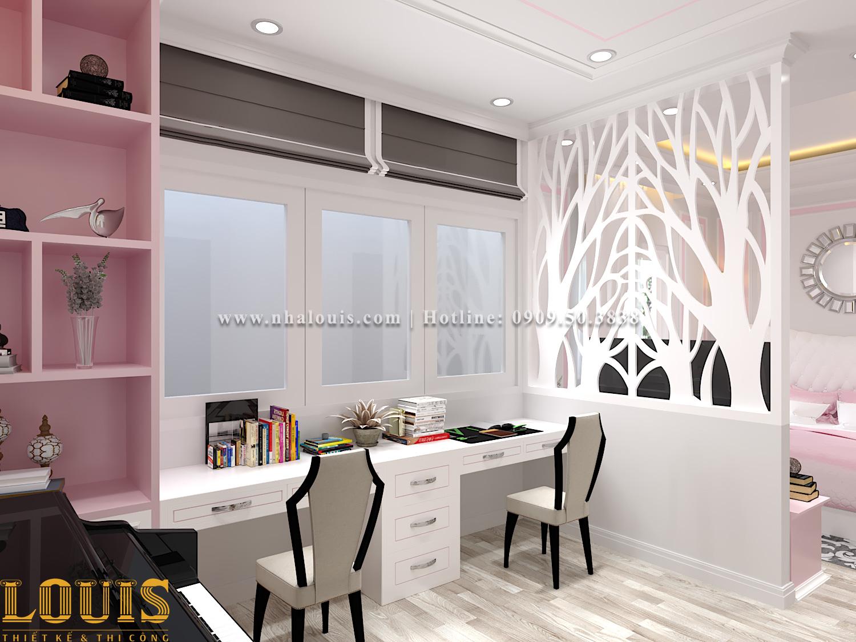 Phòng ngủ Mẫu nhà ống tân cổ điển 4 tầng tại Gò Vấp đẹp sang chảnh - 37